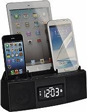 DOK CR28 3 Port Smart Phone Charger with Speaker Phone (Bluetooth), Alarm, Clock, FM Radio