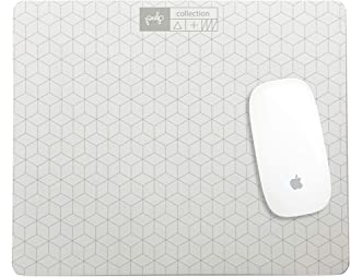 Pulp-Shop Mouse Note Pad, Paper Mouse Pad with 60 Tear Off Sheets of Quality Luxury Paper for Smooth Writing & Scrolling, 9 x 7 in. White Computer Mouse Pad with White Scratch Paper and Pencil