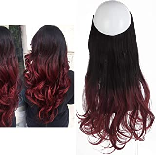 Wine Ombre Hair Extension Bayalage Long 16