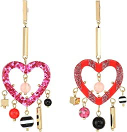 4435c9b3850e7 Betsey johnson pink and rose gold linear drop flamingo earrings + ...