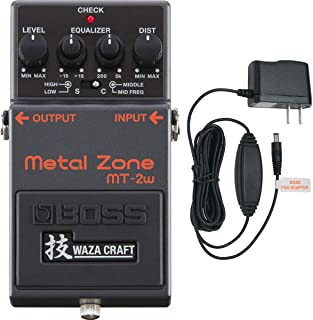 Boss MT-2W Metal Zone Waza Distortion Pedal With PSA-120S2 Power Supply