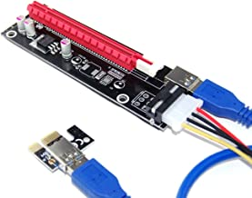 YH PCI-E x1 to x16 Aadapter Riser Card USB 3.0 Extender Cable External Powered 50cm