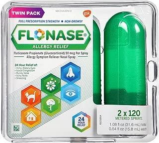 Flonase Allergy Relief Nasal Spray Twin Pack 2 X 120=240 Metered Sprays