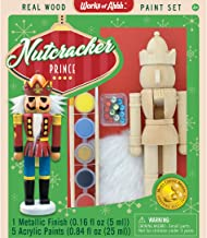 MasterPieces Works of Ahhh Christmas Real Wood Large Acrylic Paint Kits, Nutcracker Prince, Mom's Choice Award, For Ages 4+