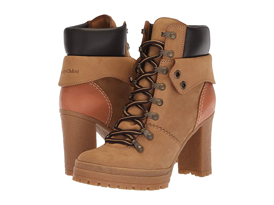See by Chloe SB31122B (Tortora Nabuck/Natural Calf) Women