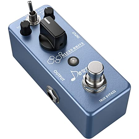 Donner Overdrive Guitar Effect Pedal, Blues Drive Vintage Overdrive Warm/Hot Modes True Bypass