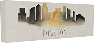 Stupell Industries Houston Skyline Silhouette Stretched Canvas Wall Art, 10 x 1.5 x 24, Multi-Color