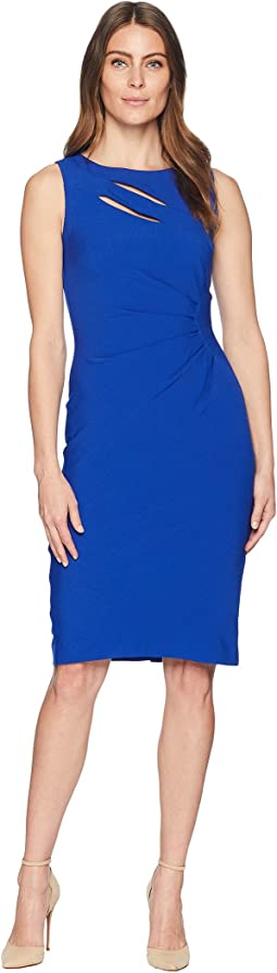 Cut Out Sheath Dress with Shirring
