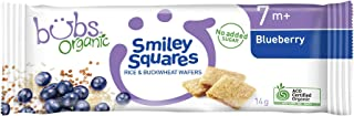 Bubs Organic Smiley Squares Blueberry 14g, 1 Count