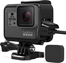 Wealpe Frame Case Housing Compatible with GoPro Hero 7 Black/Silver/White, Hero 6, Hero 5, Hero (2018) Cameras with Lens Cap