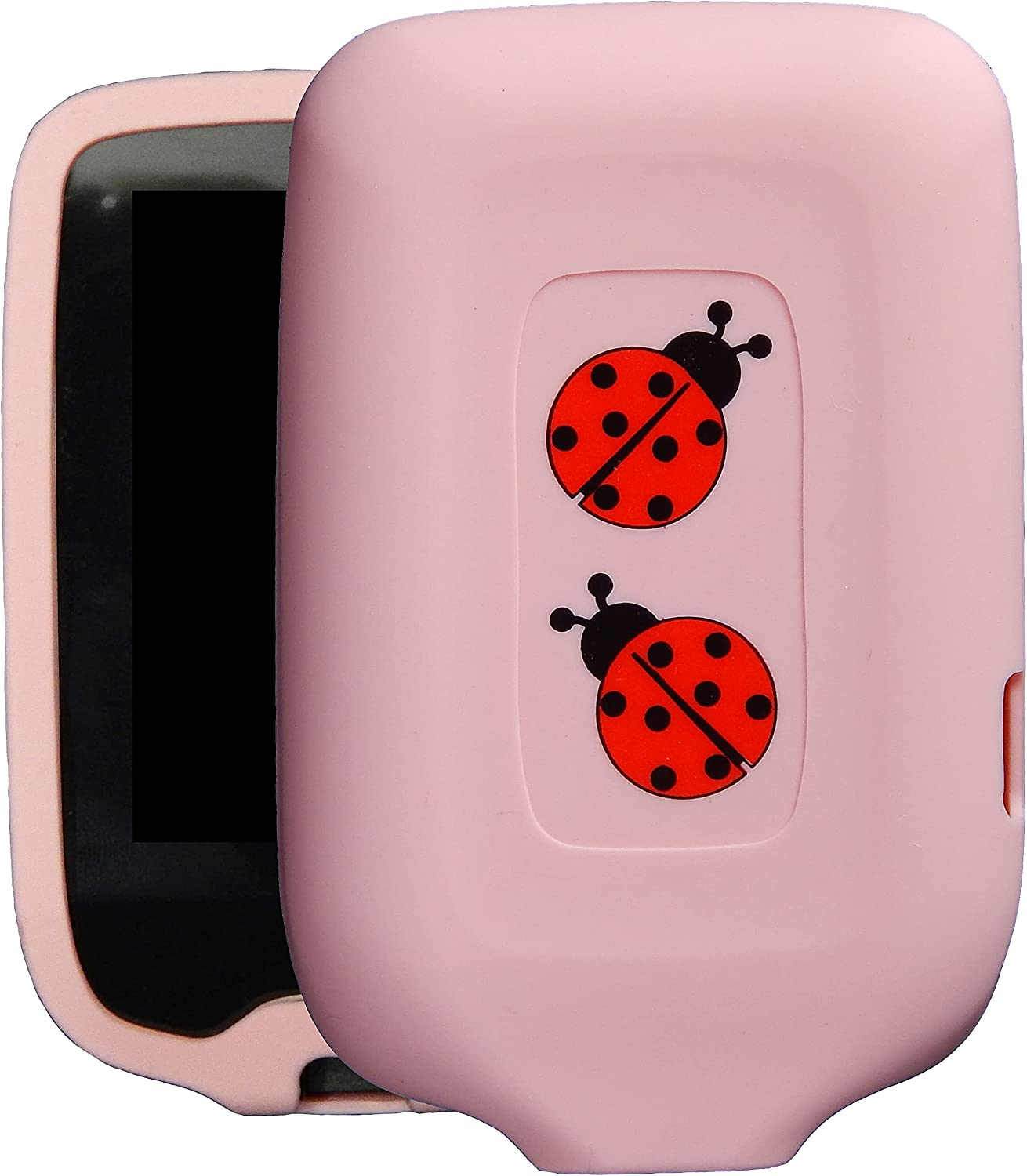 New! Premium Silicone Case with Cartoon Animal Patterns for Continuous Glucose Monitor-Freestyle Libre/Freestyle Libre 2 (Ladybug/Pink)