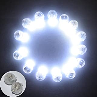Neo LOONS® 100pcs/lot 100 X White Round Led Flash Ball Lamp Balloon Light long standby time for Paper Lantern Balloon Light Party Wedding Decoration