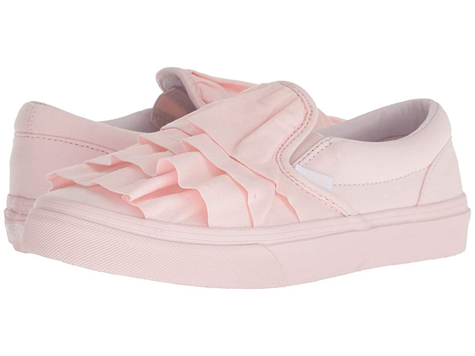 Vans Kids Classic Slip-On (Little Kid/Big Kid) ((Ruffle) Heavenly Pink) Girls Shoes