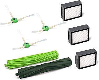 Flammi ルンバ 交換パーツキット i7+ / i7 / e5 対応 エッジクリーニングブラシ,ダストカットフィルター、 デュアルアクションブラシ (8点セット)