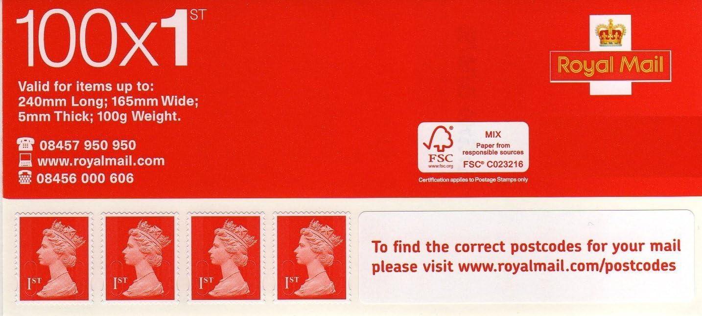 Royal Mail Erstklassiges selbstklebendes Standard Stempelbuch ...