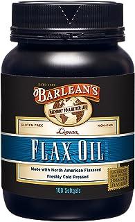 Barlean's Lignan Flax Oil Softgels, 100 Count Bottle
