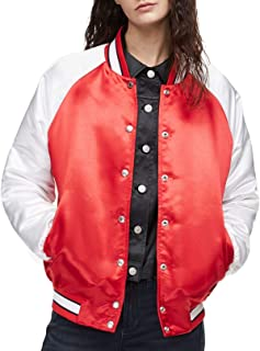 Womens Small Two-Tone Varsity Jacket Reds
