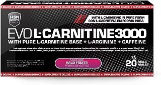 Carnitina Líquida de HSN Sports – Evo L-Carnitine 3000 - Pérdida de Peso, Quemagrasas, Fat burner con Arginina, Cafeína - Sabor Frutas Silvestres, Apto para vegetarianos - 20 Viales