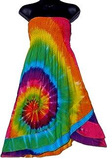 c52ae9b2d9 Amazon.com: Tie Dye - Dresses / Clothing: Clothing, Shoes & Jewelry