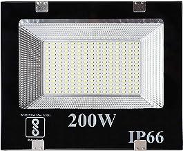 Gesto® 200 Watt Ultra Thin Slim Ip66 LED Flood Outdoor Light Cool White Waterproof- 200W,Pack of 1