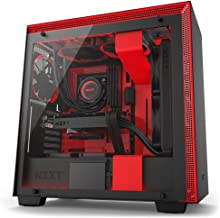 NZXT H700 - ATX Mid-Tower PC Gaming Case - Tempered Glass Panel - Enhanced Cable Management System – Water-Cooling Ready - Black/Red - 2018 Model