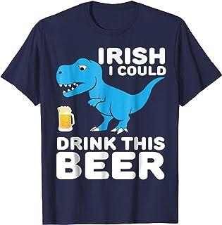 Funny Irish T-rex Drinking Beer Saint Patrick's Day Shirt