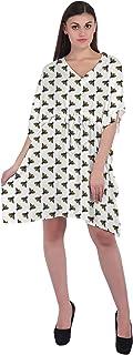RADANYA Butterfly Print Women's Casual wear Cotton Kaftans Swimsuit Cover up Caftan Beach Short Dress