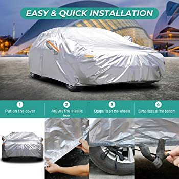 New 20 Pack Of Aluminised Waterproof Universal Cover Silver Elasticated Bottom