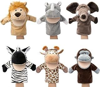 Marionnettes à main pour animaux Faune avec bouche ouverte en peluche Jouets à faire semblant Amis du zoo Parfait pour la ...