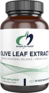 Designs for Health Olive Leaf Extract Capsules - 500mg Leaves Extract Supplement Standardized to 20% Oleuropein - Supports...