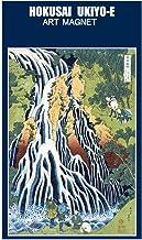 【東京みやこ工房】葛飾北斎 諸国瀧廻り 下野黒髪山きりふりの滝(長方形53mm×78mmマグネット)