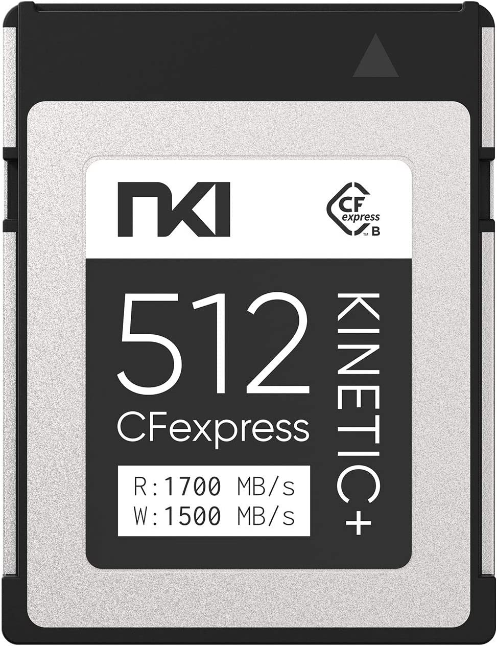 NKI 512GB Kinetic Plus CFexpress Type B Memory Card - Optimized for 8K RAW Recording, up to 1700MB/s - Compatible with Canon R5/R3/C300III/C500II, Nikon Z6/Z7/Z6&Z7II/Z9/D5/D6/D850/D500, Lumix S1/S1R