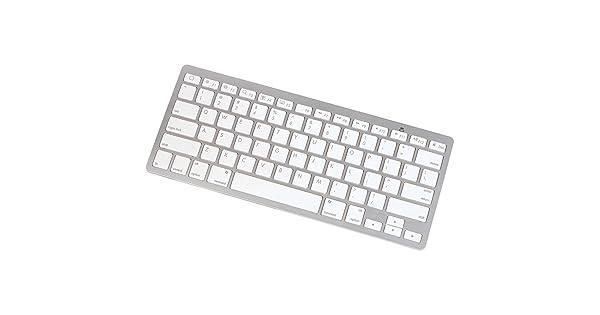 Manhattan 177887 Bluetooth Mini Tablet Keyboard White//Silver