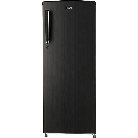 Haier 242 L 3Star Inverter Direct-Cool Single Door Refrigerator (HED-24TKS, Black Brushline)