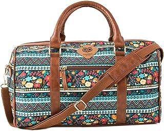 Chumbak Boho Spirit Weekend Duffel Bag - Printed Bag, Sports Bag, Travel Bag, Shoulder Bag with Adjustable Straps, Casual,...