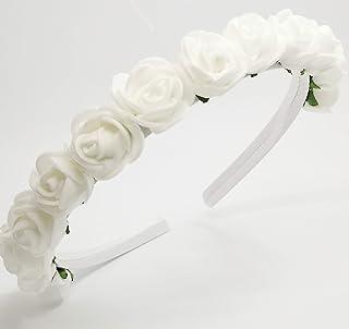 Coroncina di fiori per capelli per Damigella-Prima Comunione- Fatta a mano