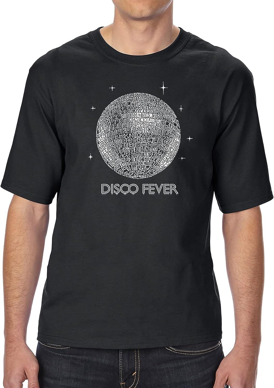 LA POP ART Men's Tall and Long Word Art T-Shirt - Disco Ball