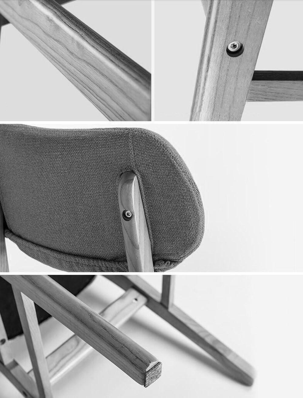 HLD Chaise en bois solide chaise créative chaise de bar chaise amovible en tissu chaise de café moderne Chaises (Color : C) A