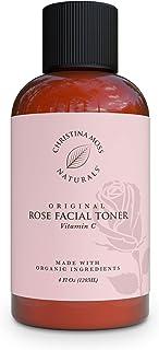 Rose Water Facial Toner - Face Toner with Witch Hazel, Vitamin C & Organic Aloe Vera - Skin Clearing, Tight...