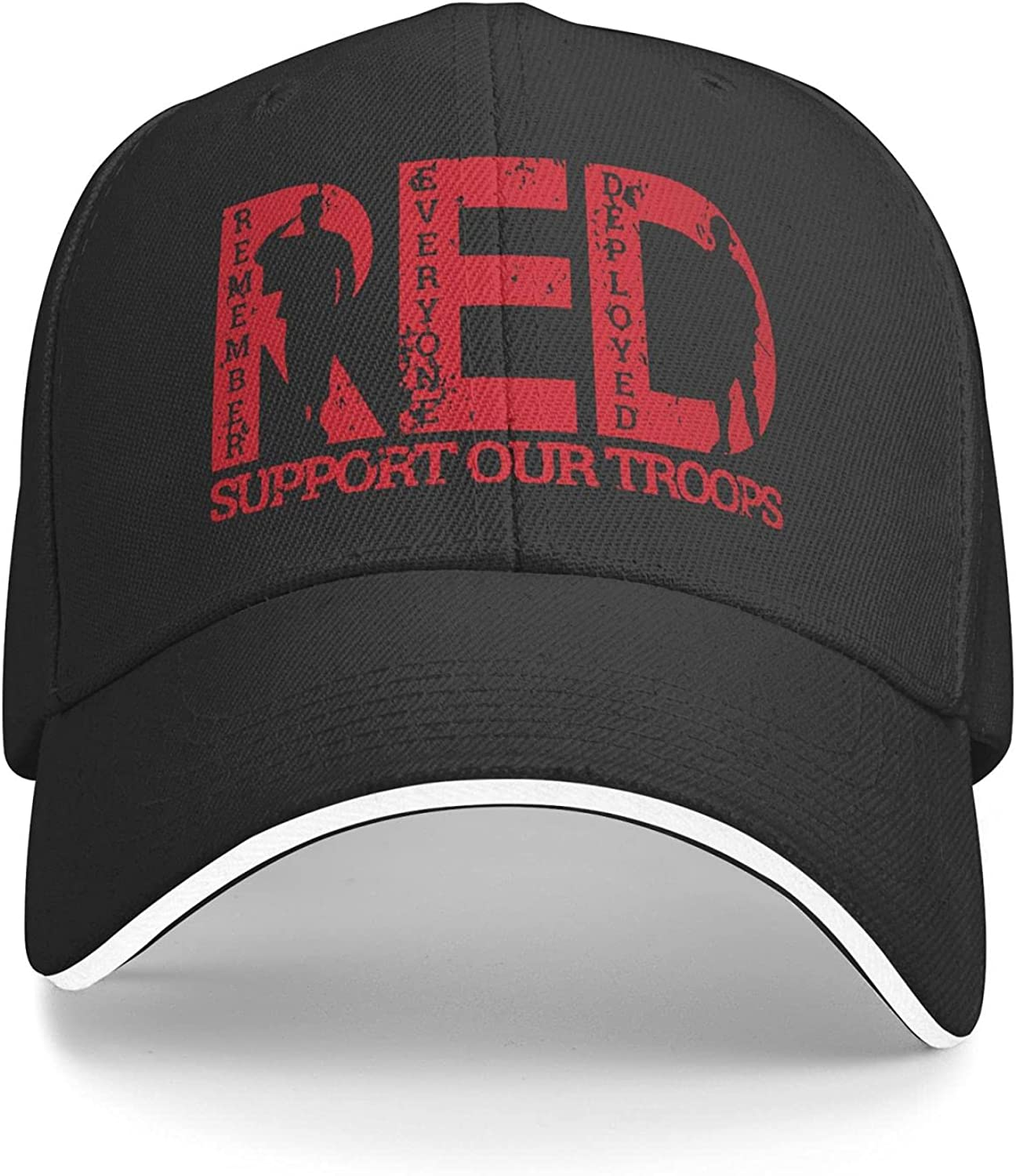 Remember Everyone Deployed Red Friday Sun Hat Dad Hat Baseball Cap Cotton Adjustable Fitted for Women Men