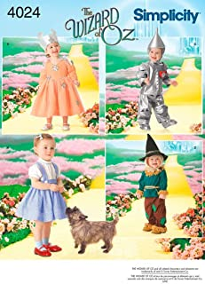 Simplicity The Wizard Of Oz Kid's Costume Sewing Patterns, Toddler Sizes 1/2-5