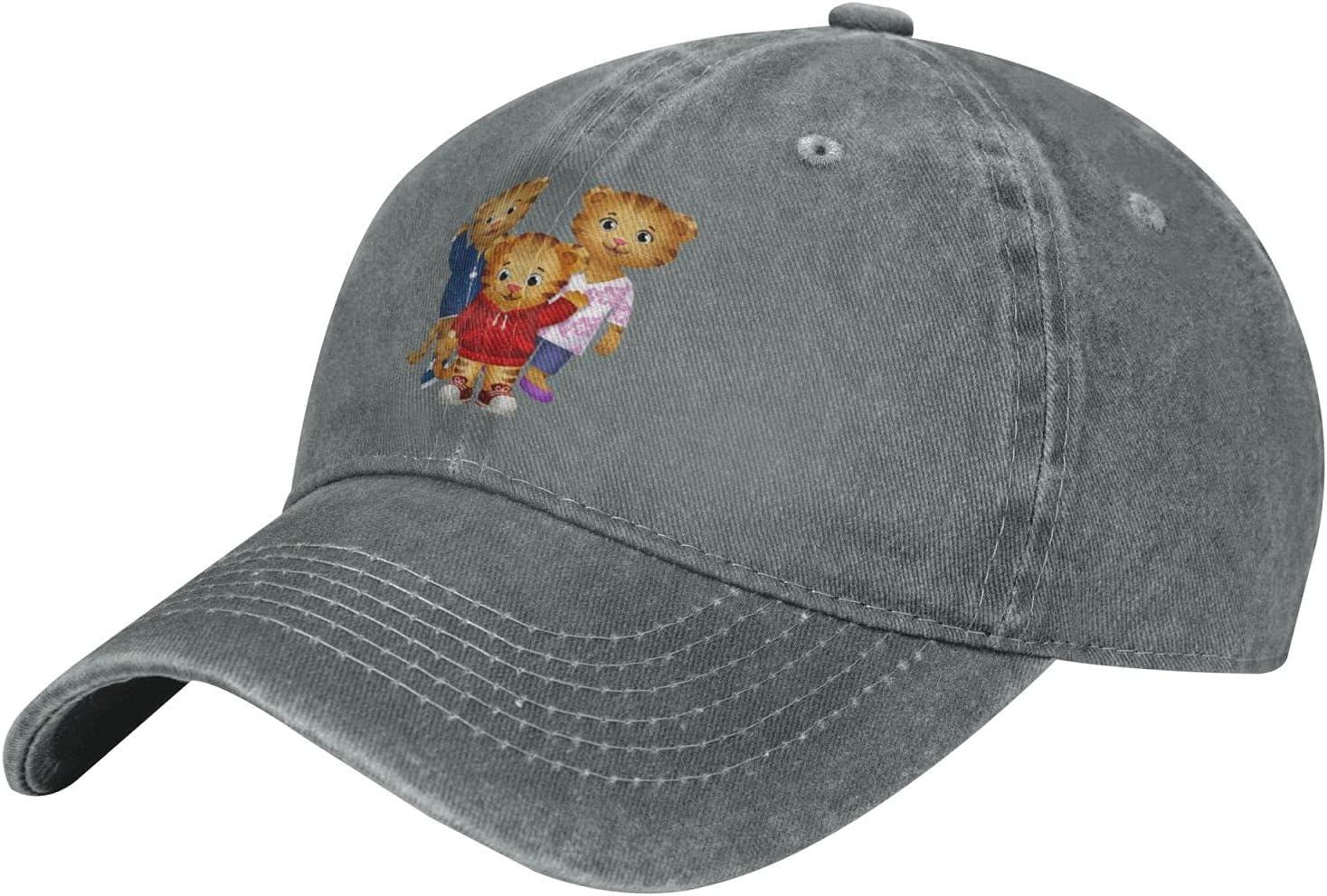 Pcaocmro Daniel Tiger's Neighborhood Cowboy Hat Unisex Adjustable Hat Circumference Size Pure Cotton Denim Wash Water Outdoor