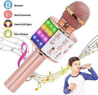 Verkstar Wireless Bluetooth Karaoke Microphone, Birthday Gift Toy for Kids with..