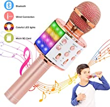 Verkstar 4 in 1 Wireless Bluetooth Karaoke Microphone,Birthday Gift Toy For Kid with..