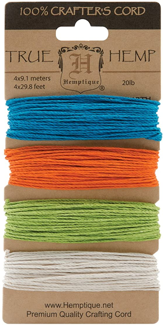 Hemptique HC20BR Hemp Cord Card, 20-Pound, Bright