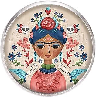 Spilla con perno in acciaio inossidabile, diametro 25 mm, spillo 0,7 mm, Fatto a Mano, Illustrazione Frida Feminist