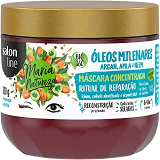 Máscara de Hidratação Maria Natureza Óleos Milenares Reparação, Salon Line, 300g