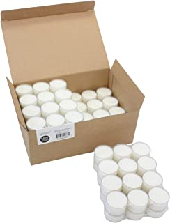 Stonebriar Unscented Long Clear Cup Tealight Candles, 8 Hour Extended Burn Time, White, Bulk 96 Pack