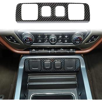 Voodonala for 2010-2017 Chevy Silverado GMC Sierra Dash Board Trim Accessories ABS Carbon Fiber 1pc