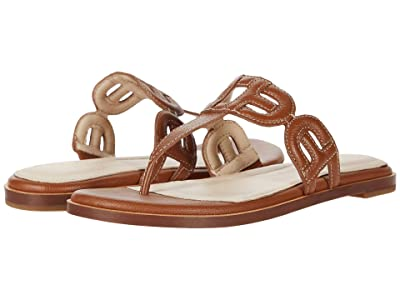 Cole Haan Anoushka Sandal (British Tan Leather Natural Heavy Guage Stitch/Dark Natural) Women
